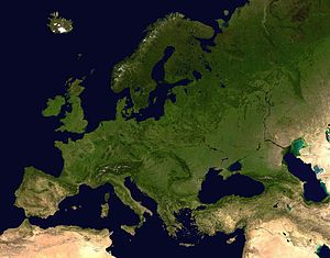 300px-Europe satellite orthographic