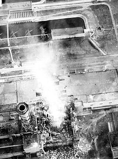 Chernobyl burning-aerial view of core