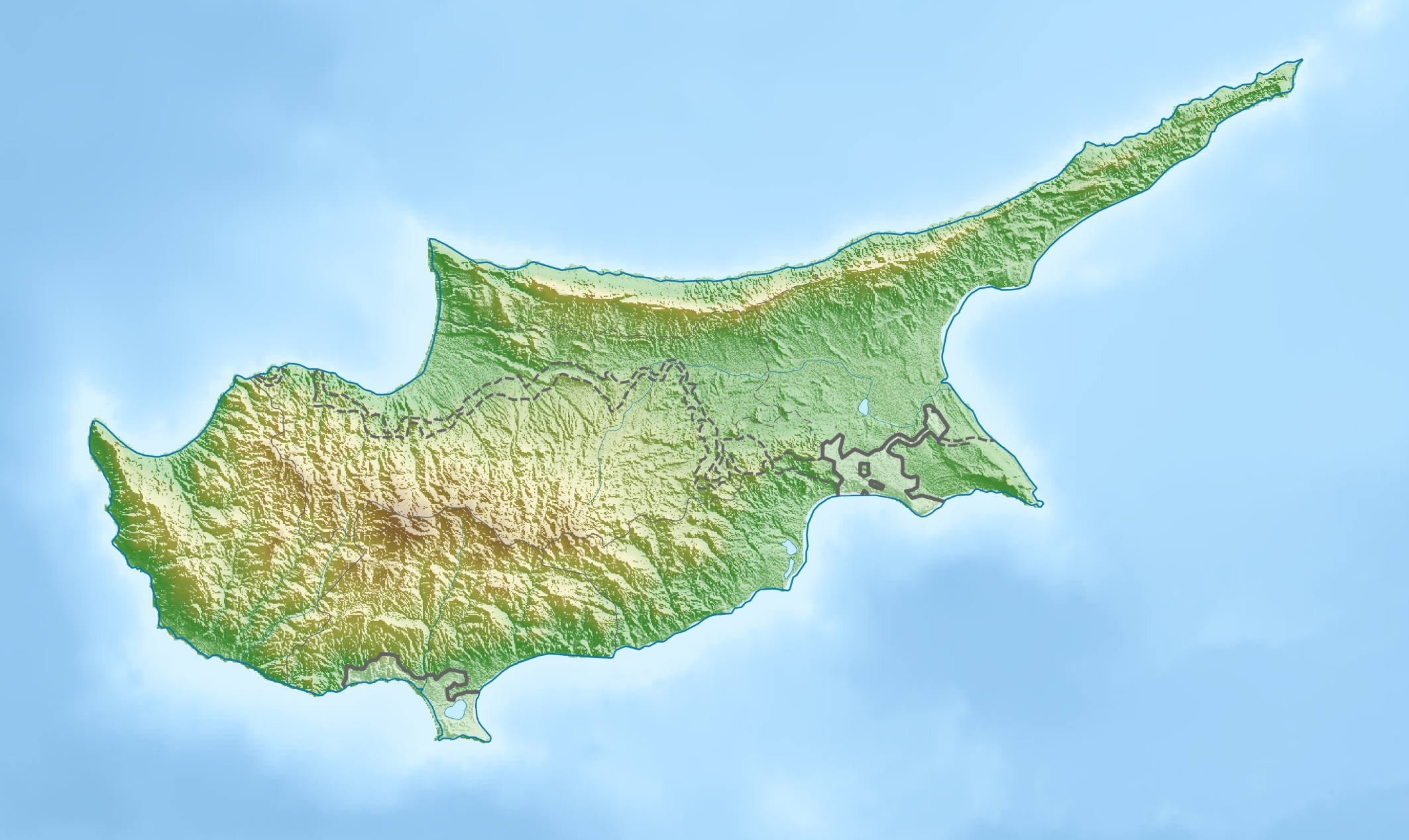 Cyprus relief location map